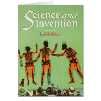 Vintage X Ray People Gun Science Fiction Invention Card