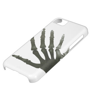 Vintage X-Ray Six Finger Hand Skeleton Bones Cover For iPhone 5C