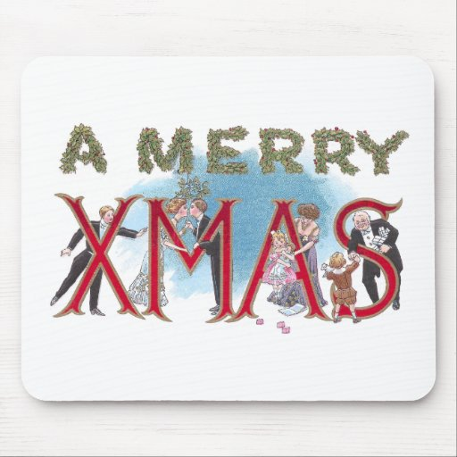 Vintage XMAS Formal Wear Partiers Mouse Pad