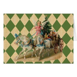 Vintage Xmas Horses & Angel Greeting Cards