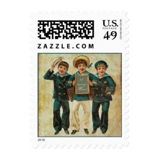 Vintage Xmas Military Boys Postage at Zazzle