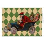 Vintage Xmas Santa Greeting Card