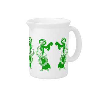 Vintage Xmas Shoppers Drink Pitcher