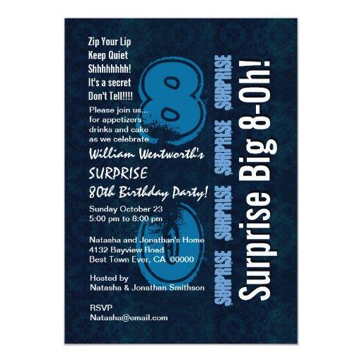"""Vintage y blanco azules del año del cumpleaños de invitación 5"""" x 7"""""""