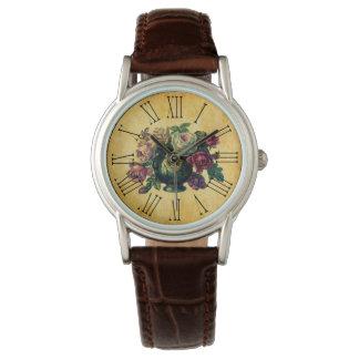 Vintage y el día de madre rústico de los rosas relojes de pulsera