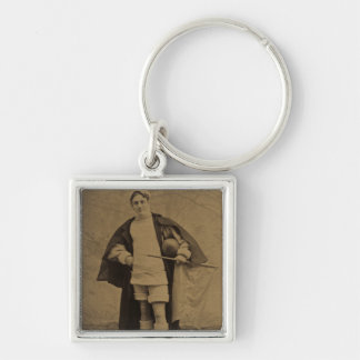 Vintage Yale Football Player 1880s Stereoview Keychain