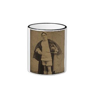 Vintage Yale Football Player 1880s Stereoview Ringer Mug