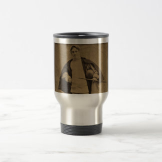 Vintage Yale Football Player 1880s Stereoview Travel Mug