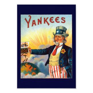 Vintage Yankees Cigar Label, Patriotic Uncle Sam 3.5x5 Paper Invitation Card