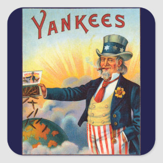 Vintage Yankees Cigar Label, Patriotic Uncle Sam Stickers