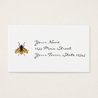 Vintage Yellow and Black Bee Business Card