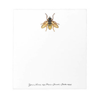 Vintage Yellow and Black Bee Notepad