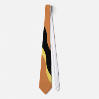 Vintage Yellow and Black Wavy Pattern Tie
