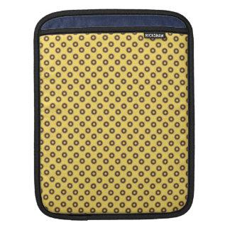 Vintage Yellow And Brown Circles Pattern iPad Sleeves