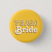 Vintage Yellow and Brown Team Bride Wedding Pins