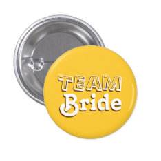 Vintage Yellow And Brown Team Bride Wedding Pins at Zazzle