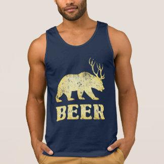 Vintage Yellow Bear Deer Tank Tops
