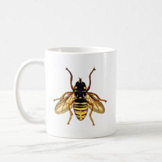 Vintage Yellow Bee Coffee Mug