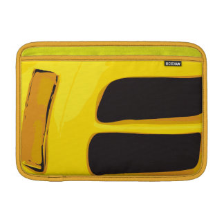 Vintage yellow Car Detail Sleeves For MacBook Air