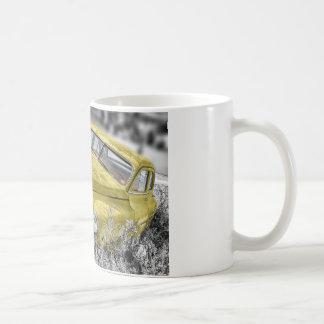 Vintage Yellow Classic Car Classic White Coffee Mug