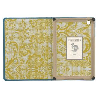 Vintage Yellow Damask Grungy Mustard Yellow iPad Mini Retina Cases