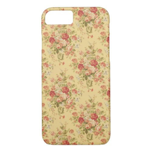 Vintage Yellow Floral iPhone 7 case Phone Case