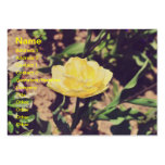 Vintage yellow flower business card template