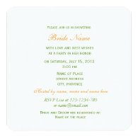vintage yellow flowers bridal shower personalized invites