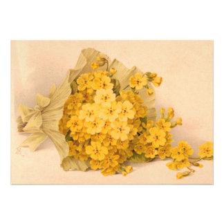Vintage Yellow Flowers Invitation