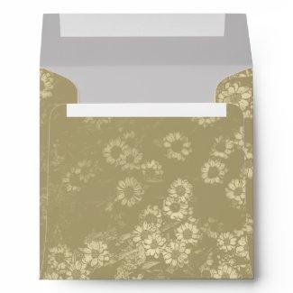 Vintage Yellow Flowers Square Envelope envelope