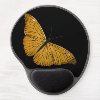Vintage Yellow Gold Butterfly 1800s Illustration Gel Mouse Pad