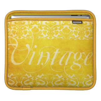 Vintage Yellow Gold Damask iPad Cover Case