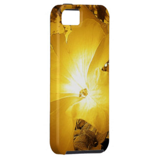 Vintage Yellow Gold Hibiscus iPhone 5 5s Case