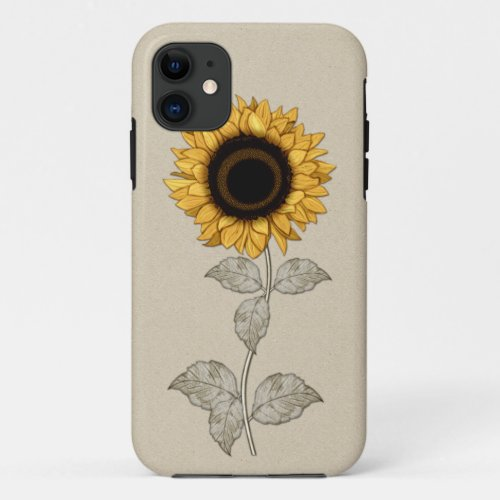 Vintage Yellow Gold Sunflower Phone Case