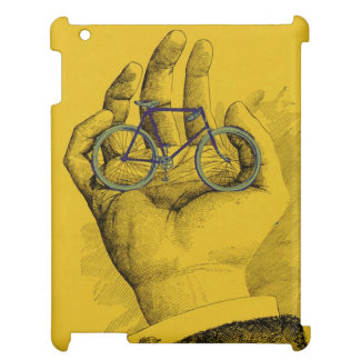 Vintage Yellow Hand Bicycle Humorous Bike Cover For The iPad