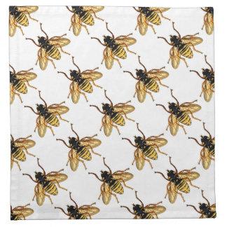 Vintage Yellow Honey Bee Printed Napkins
