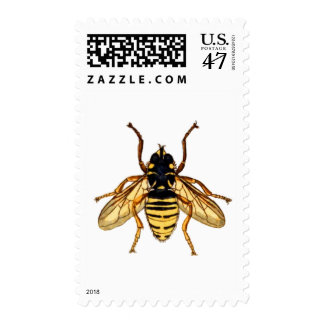 Vintage Yellow Honey Bee Postage Stamp