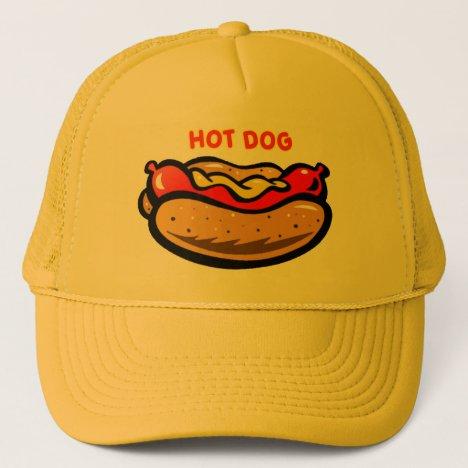 Vintage Yellow Hot Dog Stand Custom Print Logo Trucker Hat