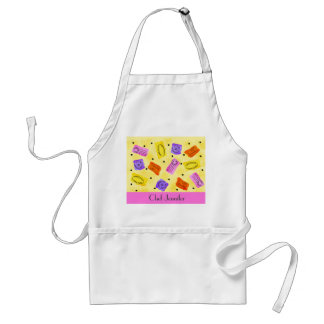 Vintage Yellow Passport Stamps Name Personalized Apron