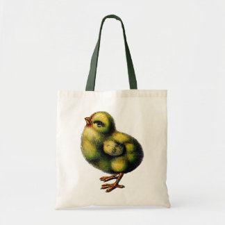 Vintage Yellow Peep Fluffly Baby Chick Tote Bag