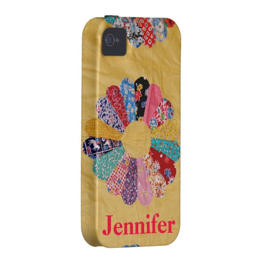 Vintage Yellow Quilt Case-Mate iPhone 4 Cover