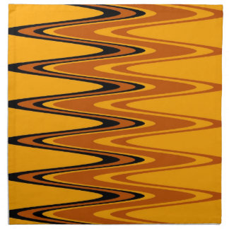 Vintage Yellow Rainbow Abstract Retro Art Deco Napkin