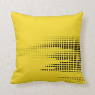 Vintage Yellow Retro Dots Painting Abstract Art Throw Pillows