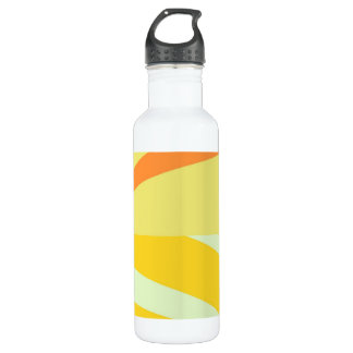 Vintage Yellow Retro Painting Abstract Stainless Steel Water Bottle