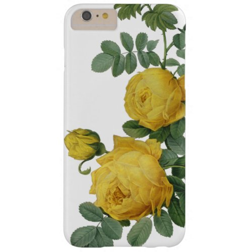 Vintage yellow rose painting case Phone Case