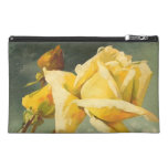 Vintage Yellow Rose Travel Accessory Bag