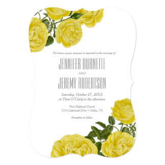 Vintage Yellow Roses Card