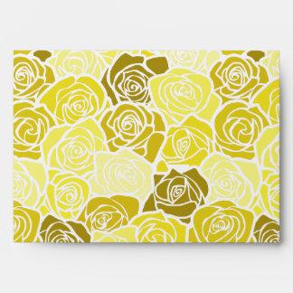Vintage yellow roses Envelope