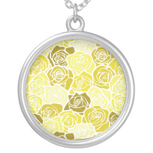 Vintage yellow roses necklace