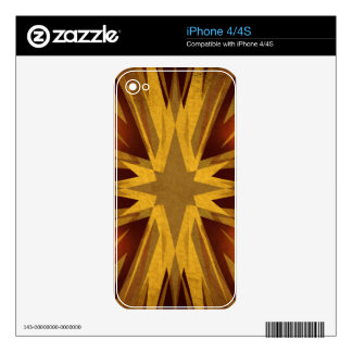 Vintage yellow starburst decal for the iPhone 4